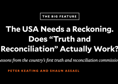 """Mother Jones: Does """"Truth and Reconciliation"""" Work?"""